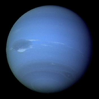 Neptune, with the great dark spot prominent